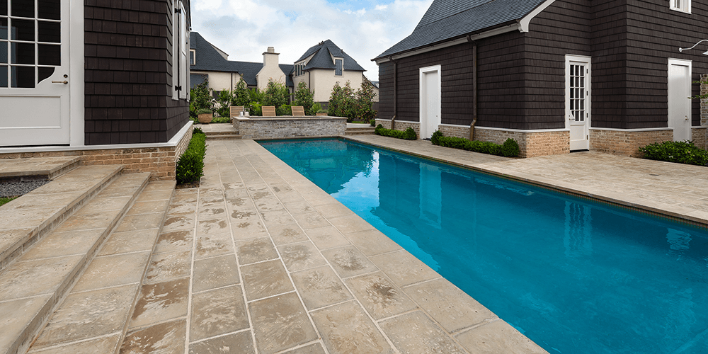 Peacock Pavers Buff Pool With Steps