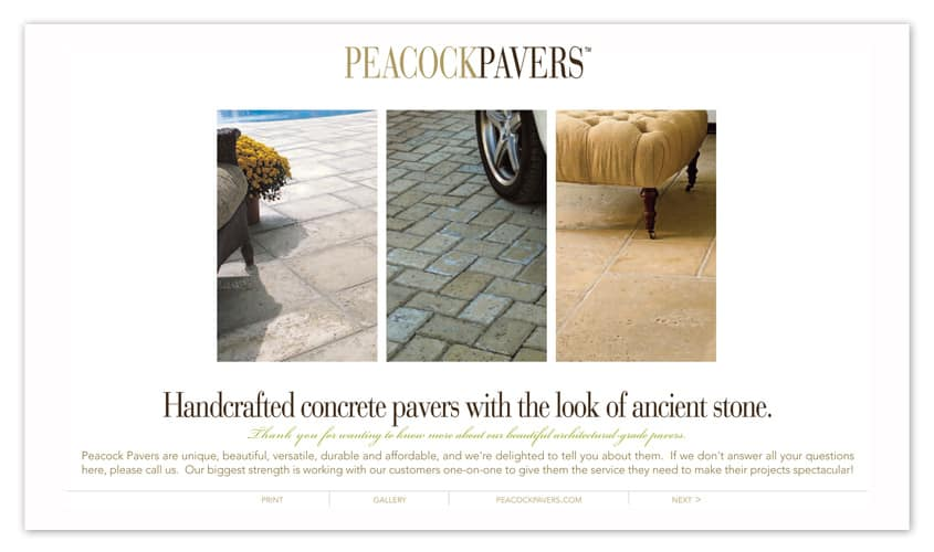 Peacock Pavers Brochure