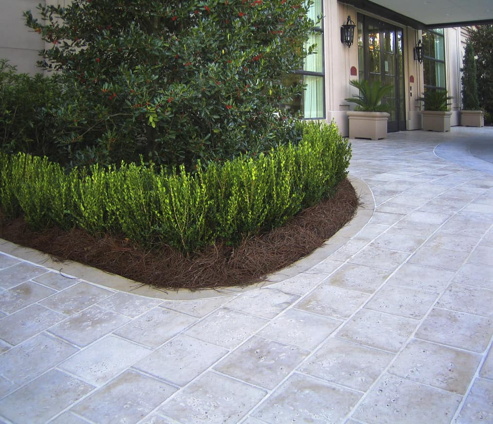 Peacock Pavers Champagne Exterior Sidewalk