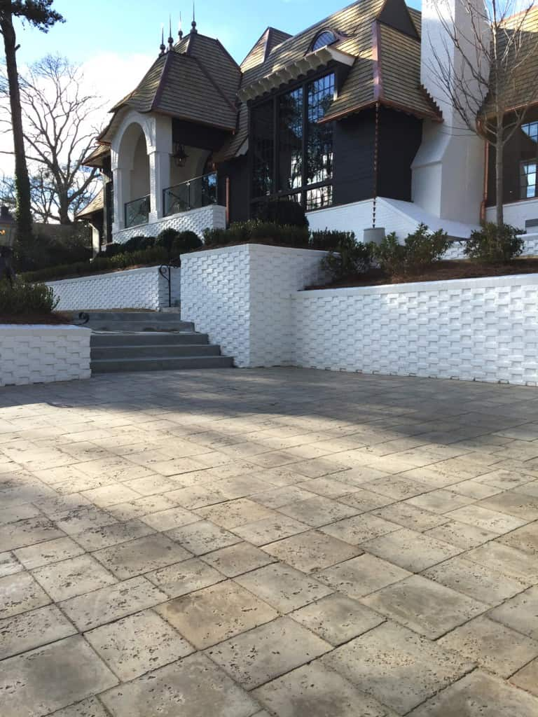 Peacock Pavers Dolphin Grey Driveway