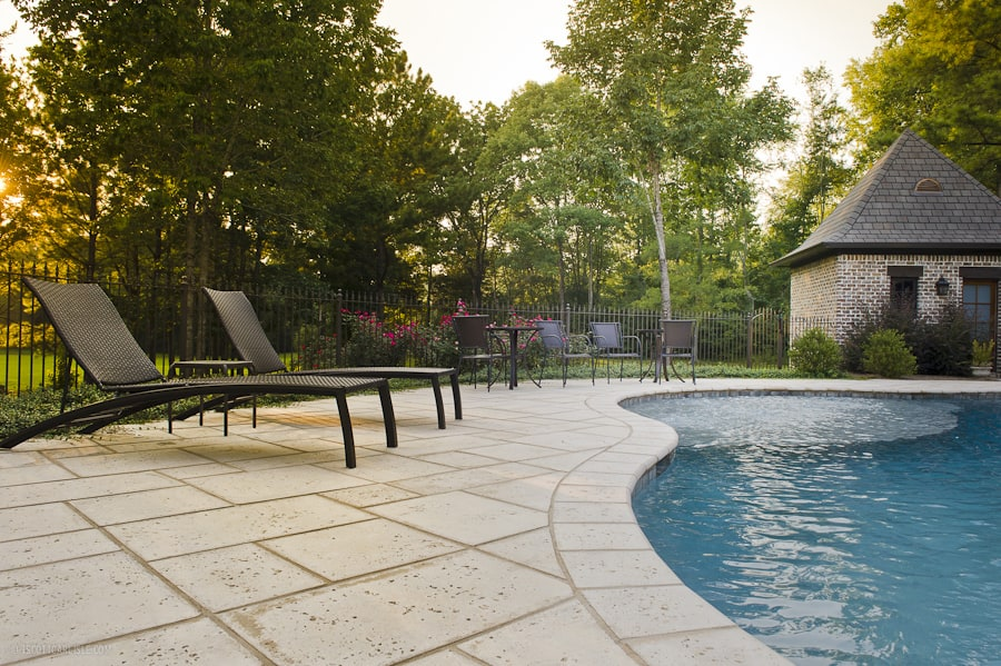 Champagne Peacock Pavers Exterior