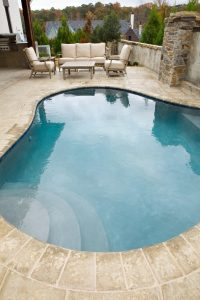 Peacock Pavers Buff Exterior Pool