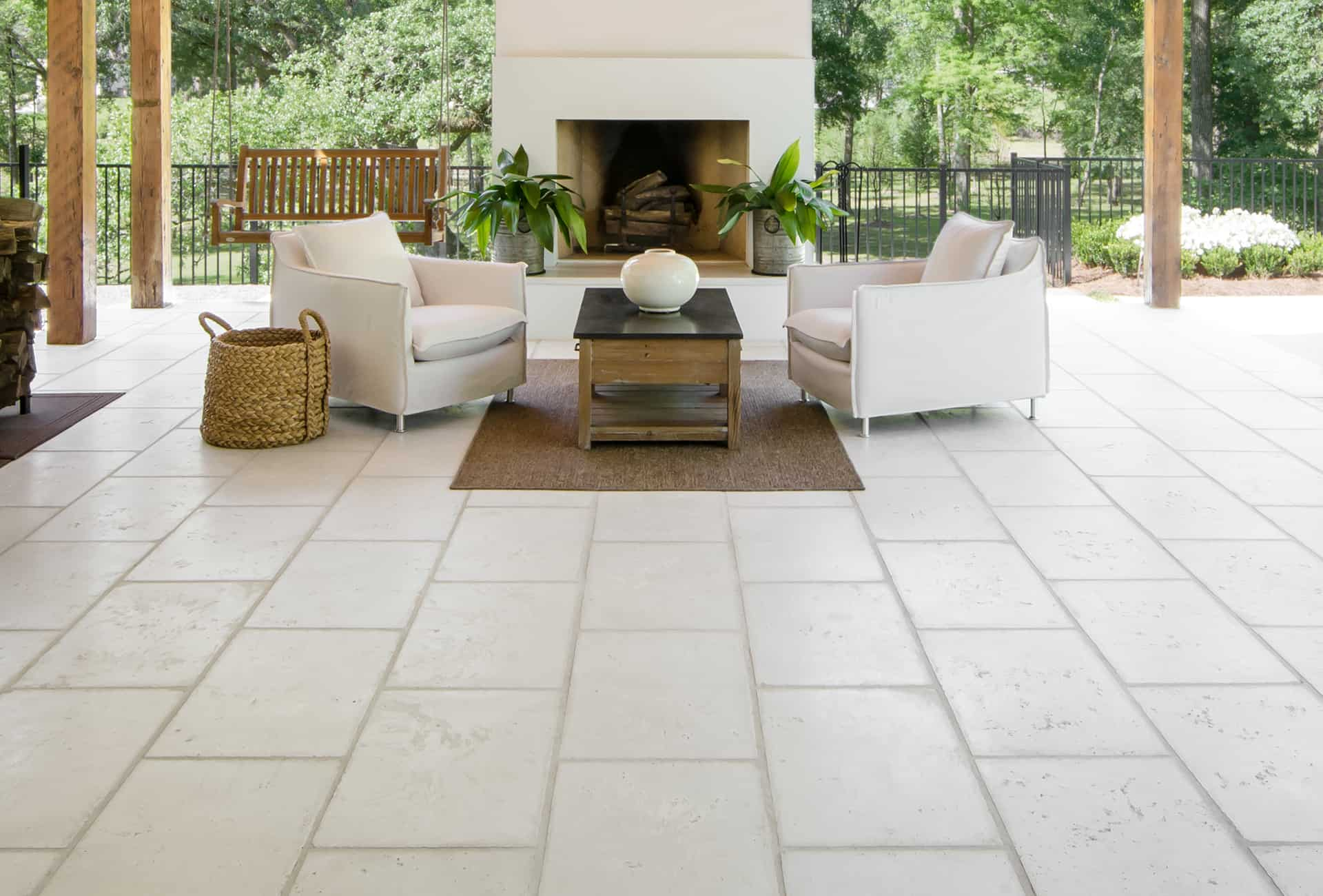 Rice White Exterior Paving