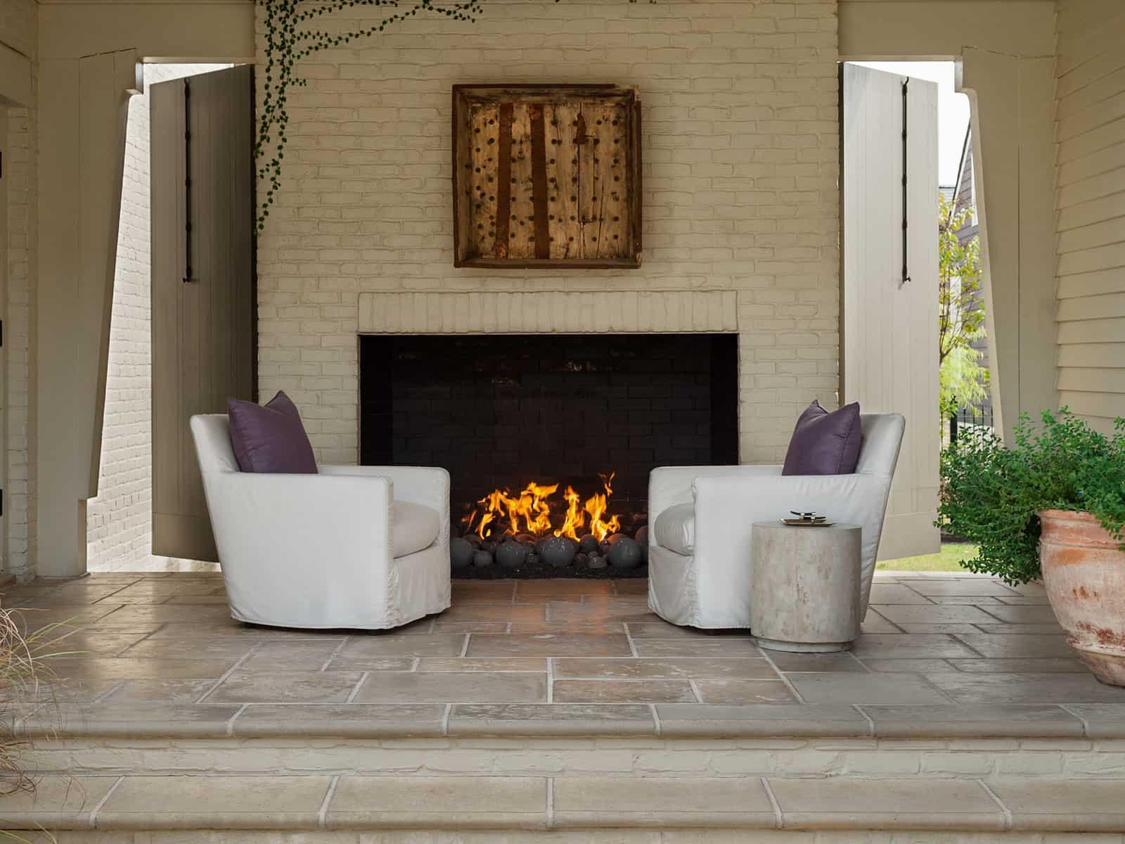 Concrete Paver based Fire Places