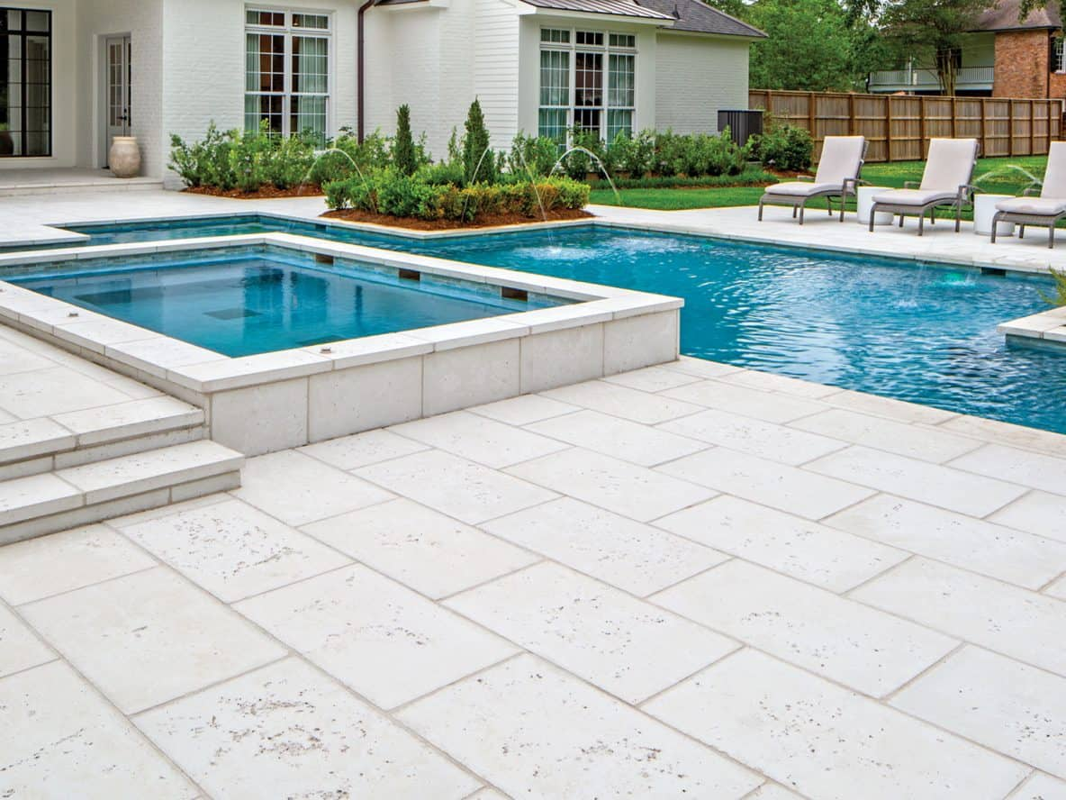 Concrete Pavers For Pools Poolside Concrete Paving