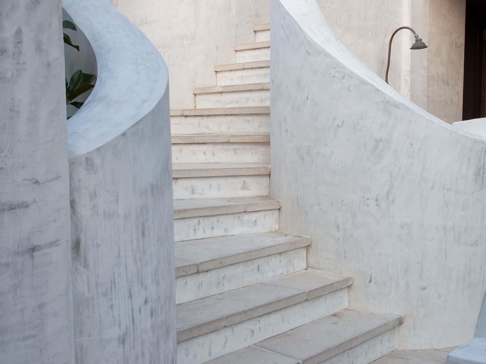 Stairway concrete pavers