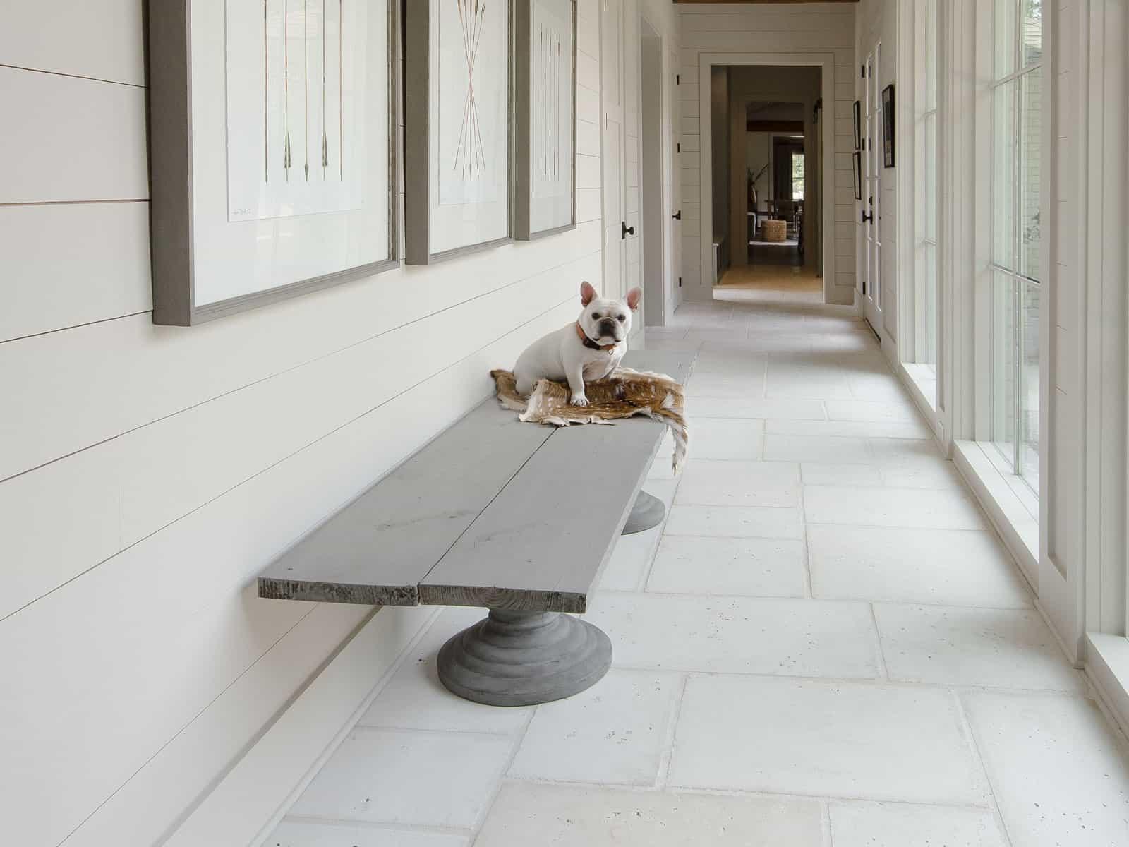 hallway concrete pavers