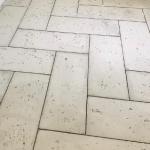 Herringbone concrete pavers