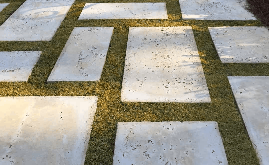 Modern concrete paver stepping stones
