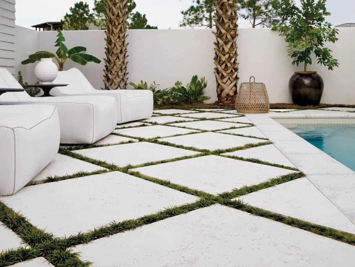 Large Format Concrete Patio Paver Pool Deck
